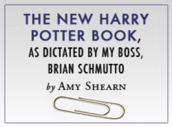The New Harry Potter Book, as Dictated by My Boss, Brian Schmutto